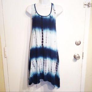 Ingear Resort Blue Tie Dye Coverup Tunic Dress